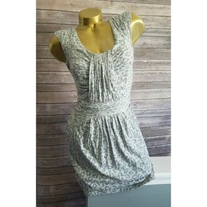 Rebecca Taylor gray leopard print dress